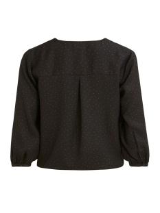 vizolan tie 3/4 top/tb/su 14055036 vila blouse black/w. dots toffee