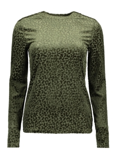 Object T-shirt OBJMARIA L/S TOP A DIV 23029364 Forest Night
