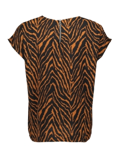jdylucy s/s zip top denim wvn 15185148 jacqueline de yong t-shirt black/sugar almond