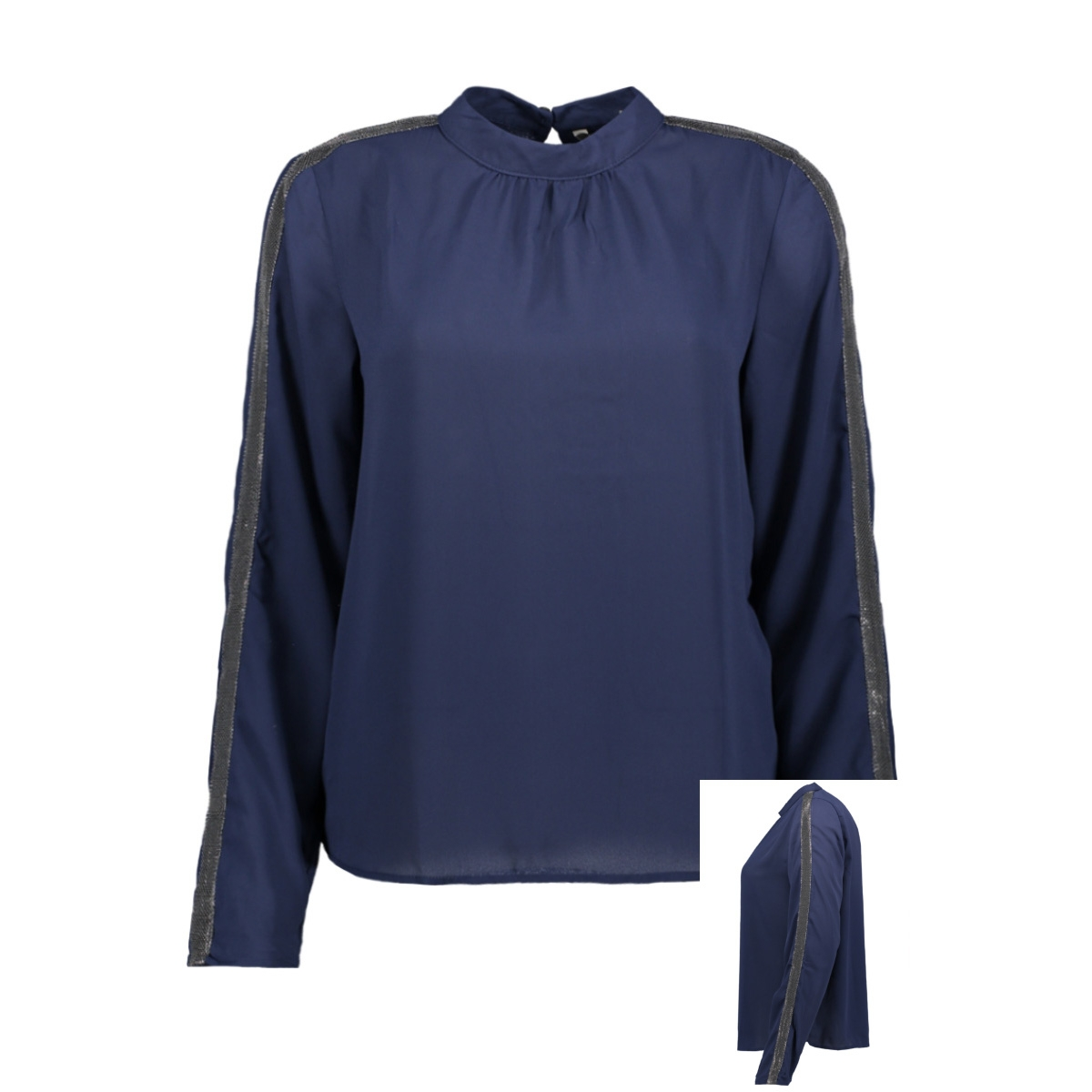 onltimca l/s top wvn 15190246 only blouse peacoat