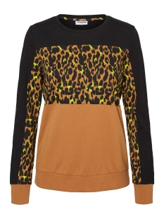 Noisy may sweater NMPANA L/S LEO SWEAT 27010617 Black/BLAKC/AOP/