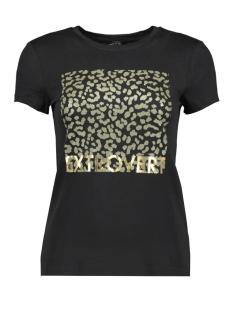 onysofia s/s animal top box jrs 15190531 only t-shirt black/extrovert