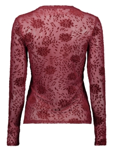 onlluna l/s mesh o-neck top jrs 15190719 only t-shirt tawny port/tonal floc