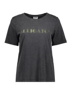Noisy may T-shirt NMMALOU S/S TOP BG 27010192 Black/ALLIGATOR