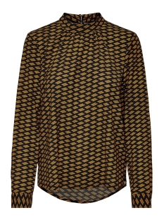 Only Blouse ONLNOVA LUX AOP L/S  HIGHNECK TOP 8 15191107 Black/GRAPHIC EARTH