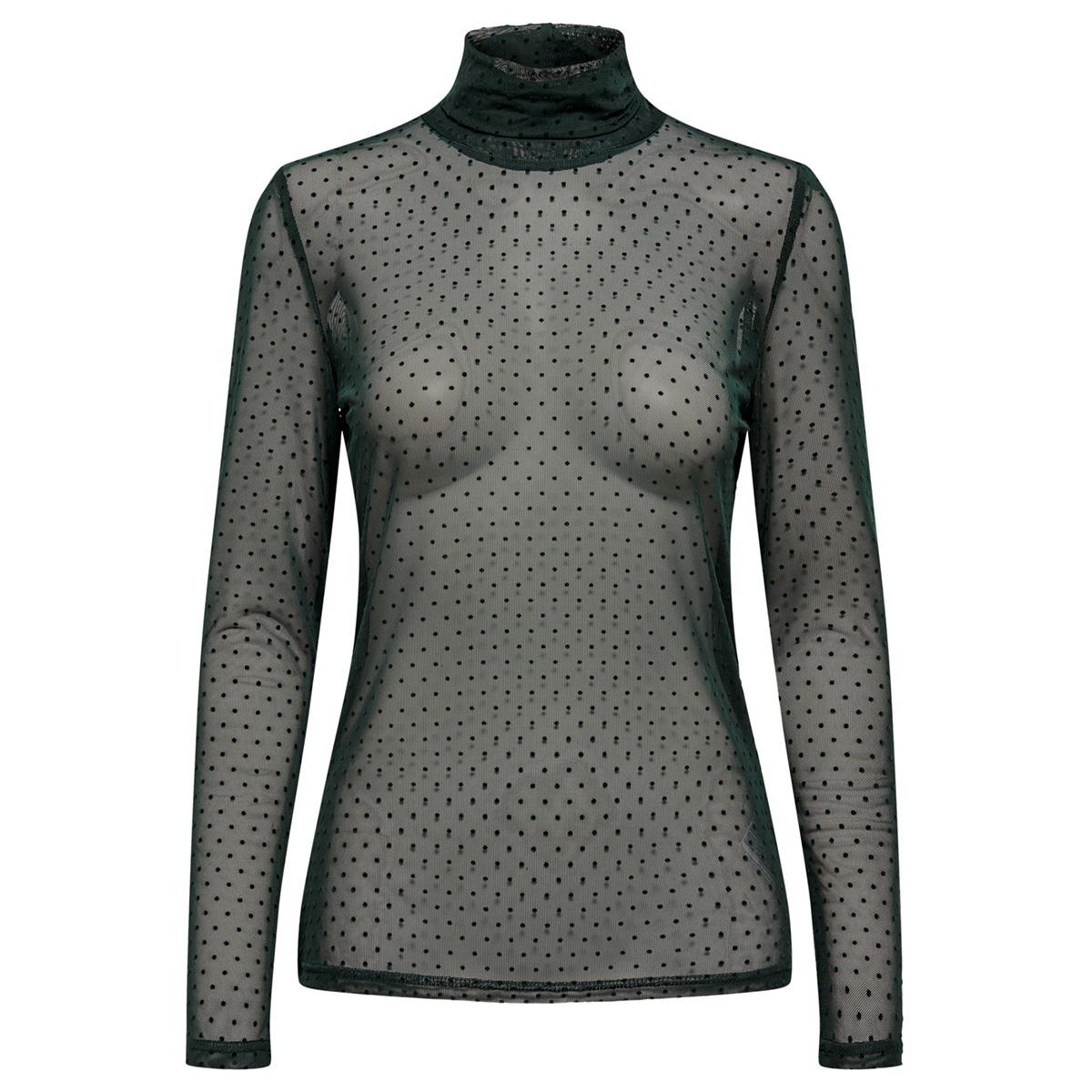 jdyevie l/s rollneck jrs 15185955 jacqueline de yong t-shirt scarab/dtm flock