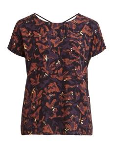 Object T-shirt OBJELMA CLARISSA SS TOP 106 23031109 NIGHTSHADE