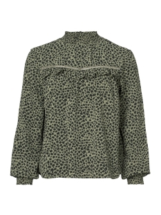 TOP LEOPARD WITH ELASTIC COLLAR 93823 21 000550 Army/Black panter
