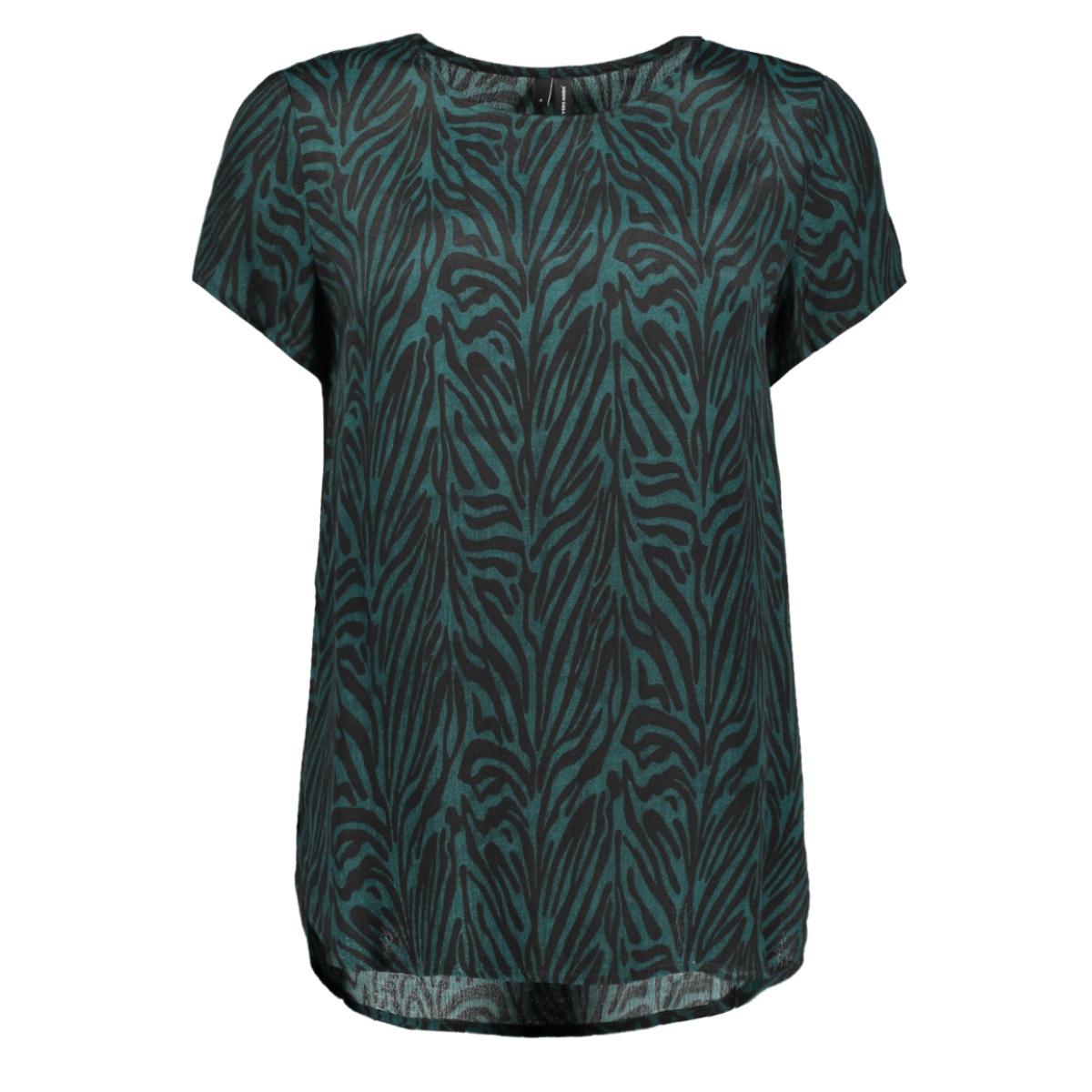 vmvickie s/s o-neck top exp 10228791 vero moda t-shirt ponderosa pine/zebra