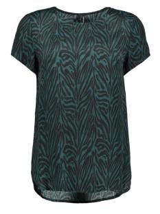 Vero Moda T-shirt VMVICKIE S/S O-NECK TOP EXP 10228791 Ponderosa Pine/ZEBRA