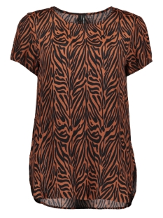 Vero Moda T-shirt VMVICKIE S/S O-NECK TOP EXP 10228791 Tortoise Shell/ZEBRA
