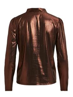 vikatty l/s top 14055010 vila blouse black/w. copper