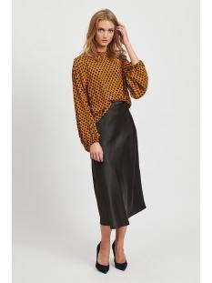 objdinah l/s top .i 106 23030840 object blouse buckthorn brown/black