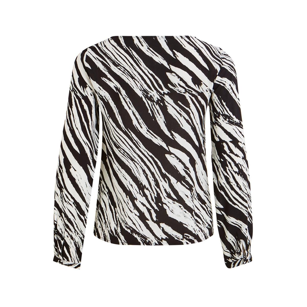 vimamilda l/s top /su 14056756 vila blouse black/zebra