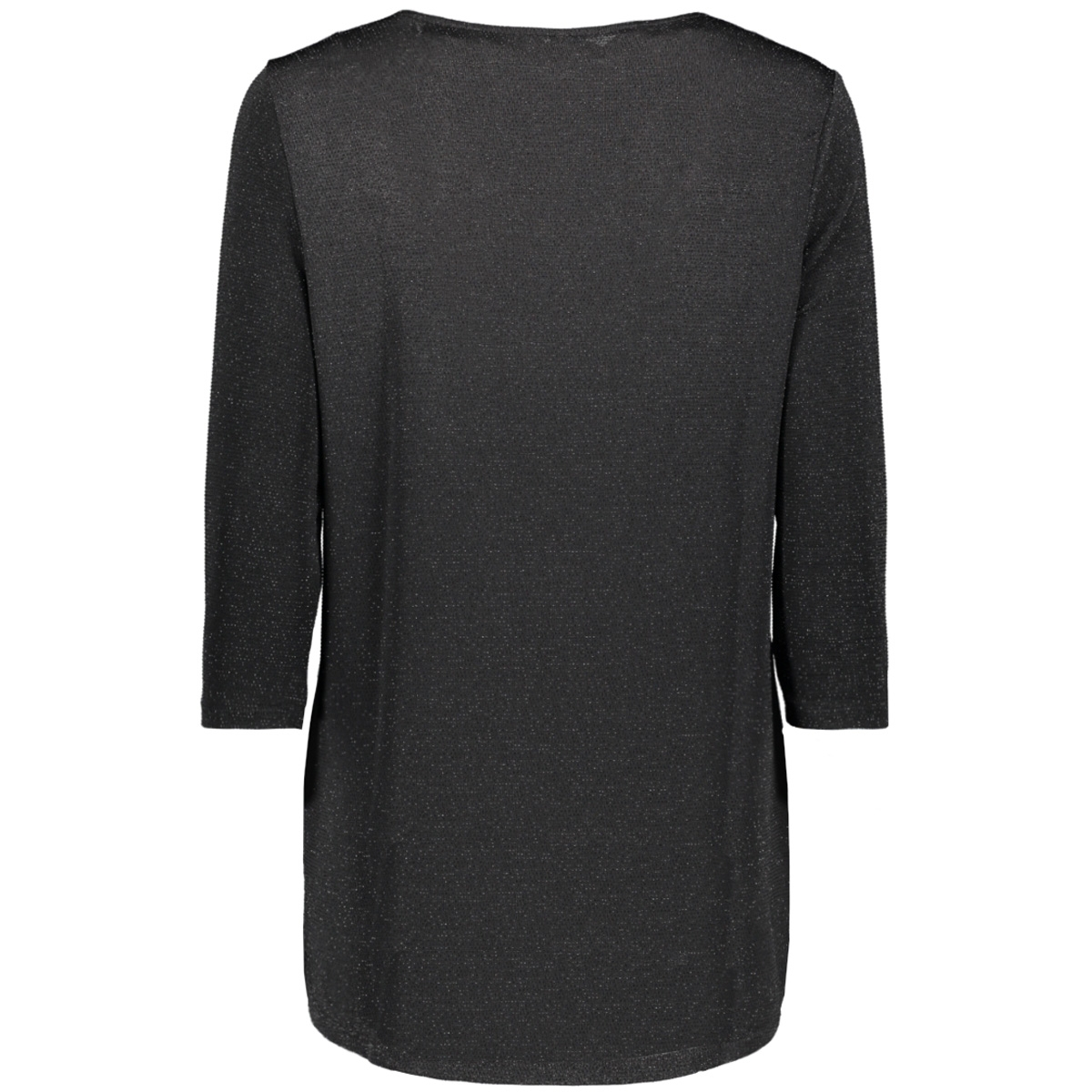 onlqueen elcos 3/4 glitter  top jrs 15195551 only t-shirt black/black lurex