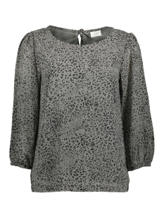 Vila Blouse VISTUFFY  3/4 TOP 14055659 Black/ANIMAL/GREY