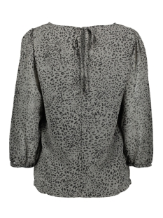 vistuffy  3/4 top 14055659 vila blouse black/animal/grey