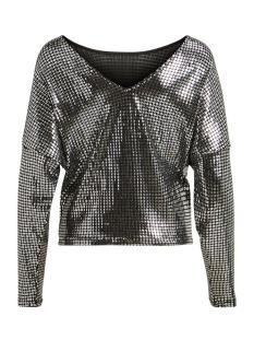 vibeyla l/s top/tb 14054994 vila t-shirt black/w.silver