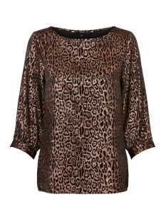 Vero Moda T-shirt VMDAKOTA 3/4 BOATNECK TOP WVN 10221681 Black/COPPER LEO