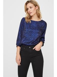 vmdakota 3/4 boatneck top wvn 10221681 vero moda t-shirt black/sodalite blue