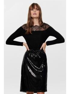 onlaya l/s lace lurex top jrs 15190681 only t-shirt black