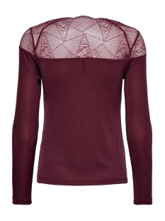 onlaya l/s lace lurex top jrs 15190681 only t-shirt tawny port