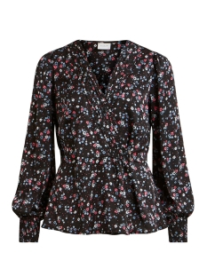 Vila Blouse VIDAGO L/S TOP 14056643 Black/FLOWERS