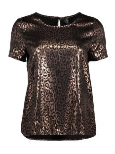 Vero Moda T-shirt VMDAKOTA S/S TOP WVN LCS 10227181 Black/COBBER LEO