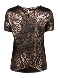 vmdakota s/s top wvn lcs 10227181 vero moda t-shirt black/cobber leo