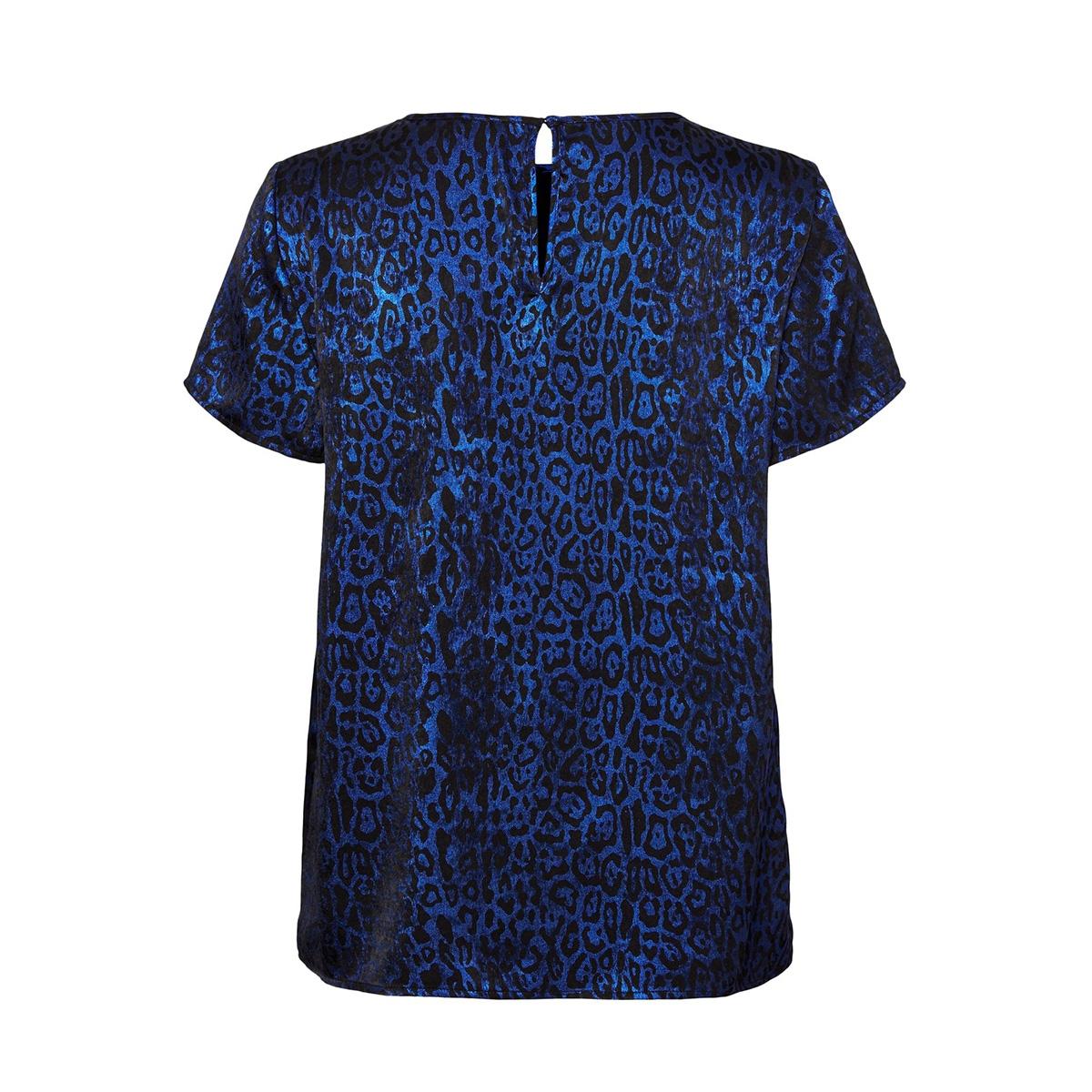 vmdakota s/s top wvn lcs 10227181 vero moda t-shirt black/sodalite b