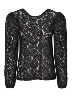vmbernice l/s volume lace blouse sb 10228214 vero moda t-shirt black