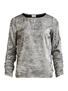 Vila T-shirt VIOPAL L/S TOP 14056767 Silver
