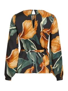 objfania l/s blouse a q 23033012 object blouse black/lily