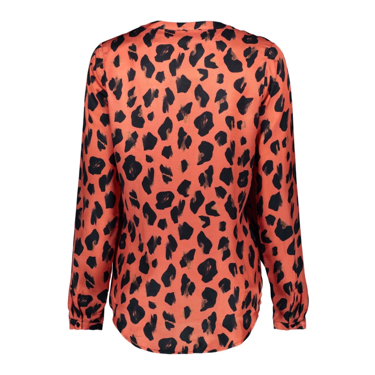 top 93955 20 geisha blouse 000220 coral/black combi