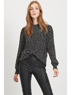 Vila Blouse VITILLAN L/S TOP 14056351 Black/WHITE DOTS
