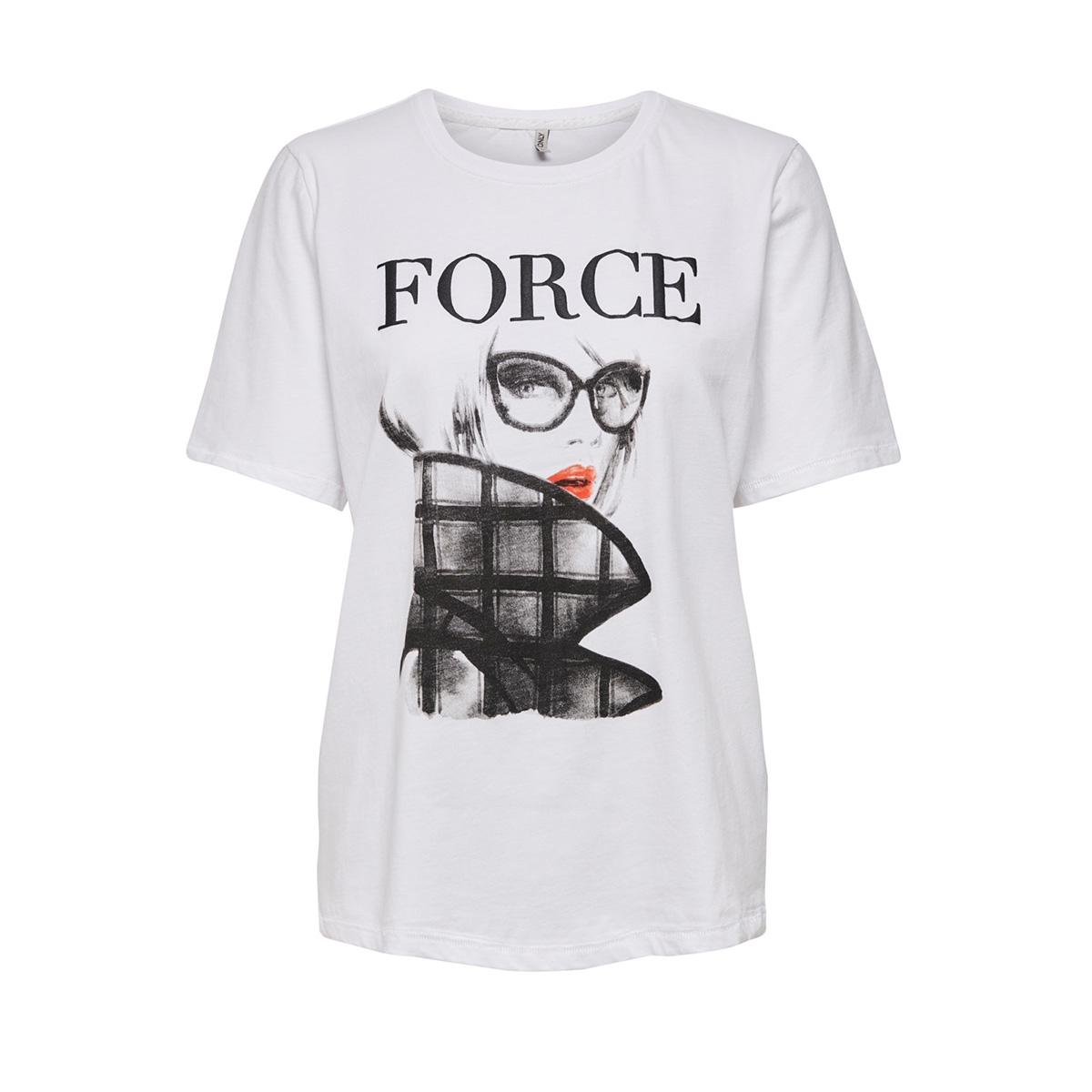 onlmode boxy s/s top box jrs 15195469 only t-shirt bright white/force