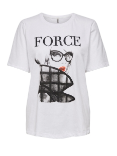 Only T-shirt ONLMODE BOXY S/S TOP BOX JRS 15195469 Bright White/FORCE
