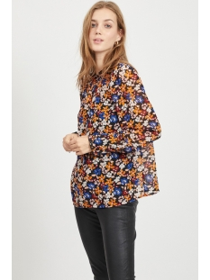 vitaba l/s top /rx 14058403 vila blouse black/flowers mu