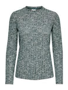 Jacqueline de Yong T-shirt JDYMELISA L/S TOP JRS 15189843 Scarab/MELANGE