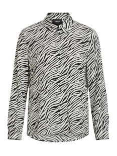 objbonnie bay l/s shirt pb7 23031768 object blouse black/zebra