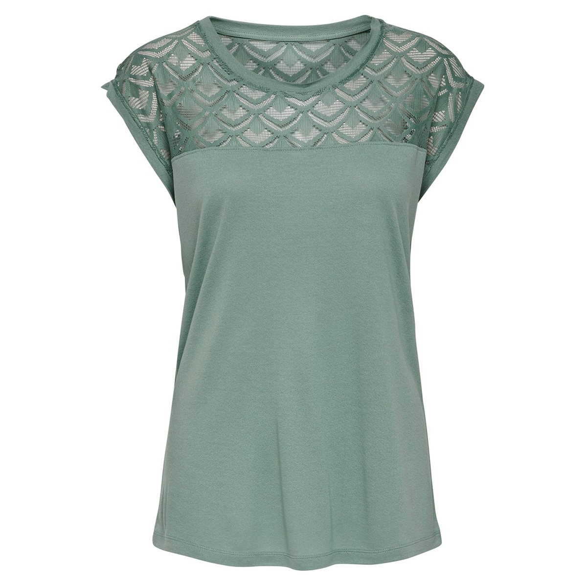onlnicole s/s mix top noos 15151008 only t-shirt chinois green