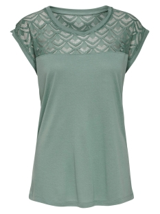 ONLNICOLE S/S MIX TOP NOOS 15151008 Chinois Green