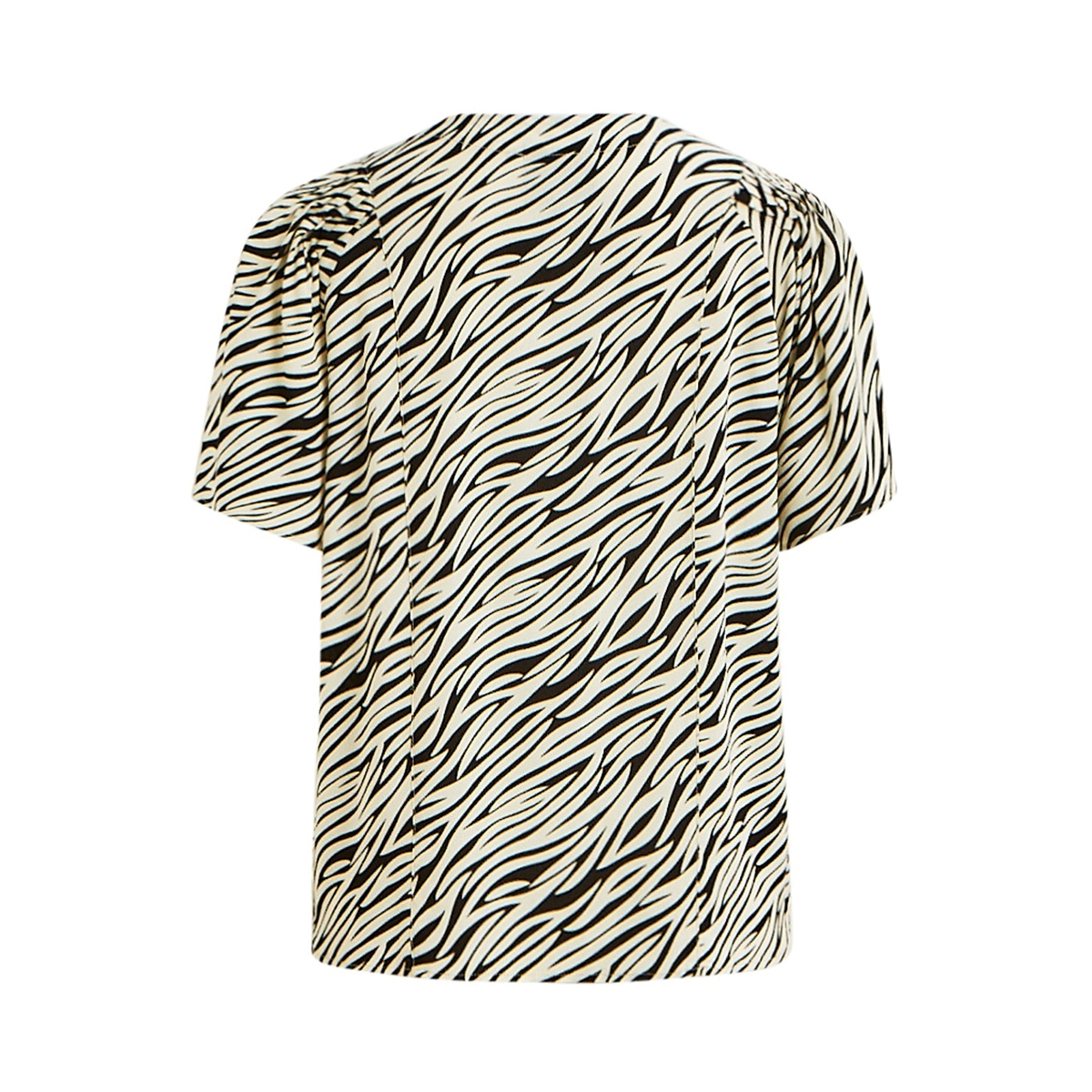 objbonnie 2/4 top pb7 23031716 object blouse black/zebra