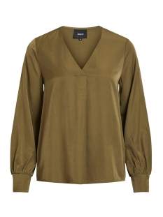 Object Blouse OBJEILEEN L/S V-NECK TOP NOOS 23032114 Burnt Olive