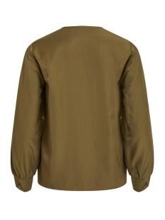 objeileen l/s v-neck top noos 23032114 object blouse burnt olive