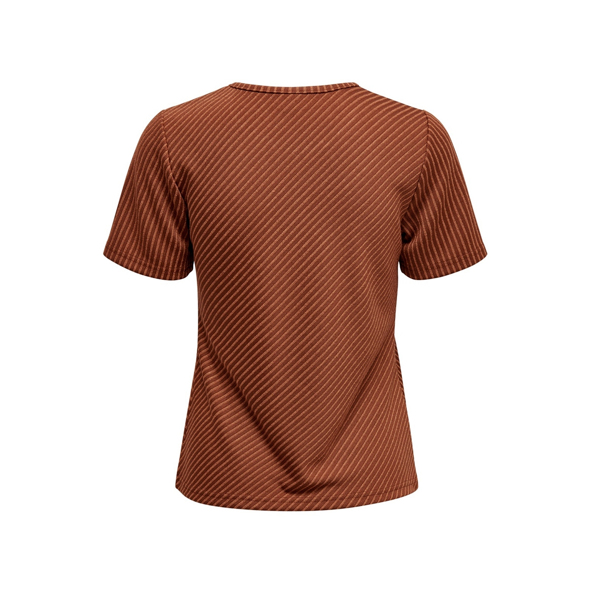 jdytabby s/s striped top jrs exp 15188061 jacqueline de yong t-shirt smoked paprika/autumn leaf