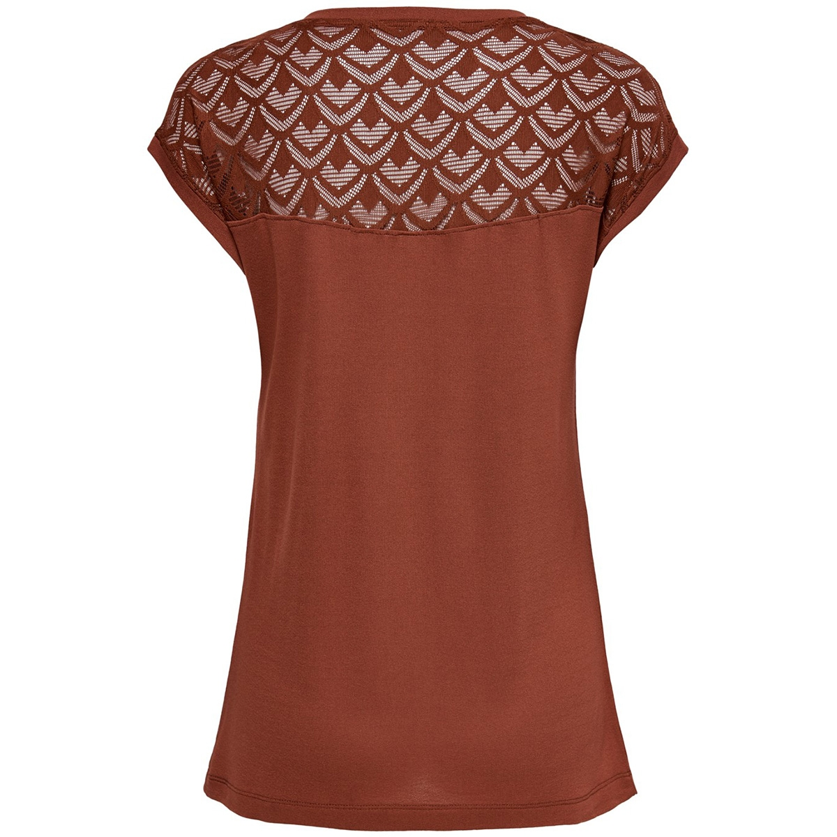 onlnicole s/s mix top noos 15151008 only t-shirt henna