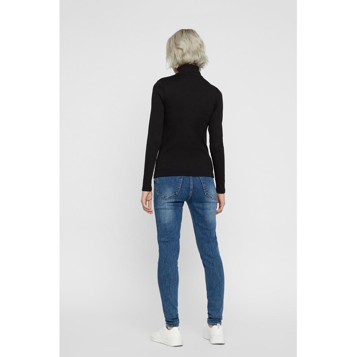 nmrox l/s high neck top 27009809 noisy may t-shirt black