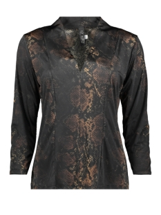 IZ NAIZ T-shirt HIGH V NECK SHIRT 3652 SNAKE DARK
