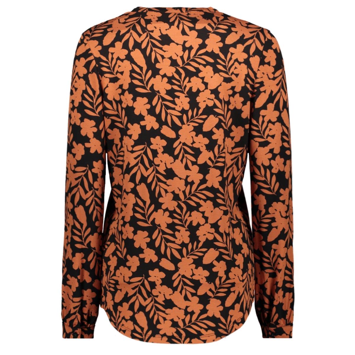 daze shirt with print 195 zoso blouse black/burnt orange